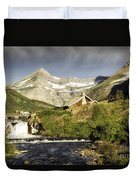 Swiftcurrent Falls Glacier Park Duvet Cover