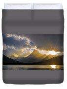 Swiftcurrent Lake Sundown Glacier N P Duvet Cover