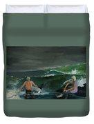 Swim At Your Own Risk Duvet Cover
