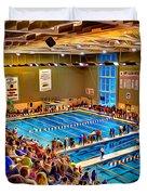 Swim Meet Duvet Cover