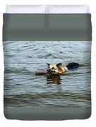Swimming Dog Duvet Cover