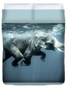 Swimming Elephant Duvet Cover
