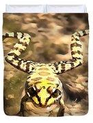 Swimming Frog Duvet Cover