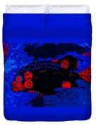 Swimming In Blue Coral Duvet Cover
