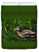 Swimming In The Grass Duvet Cover