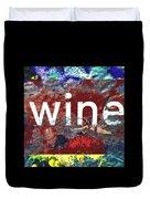 Swimming In Wine Duvet Cover