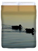 Swimming Into Ripples  Duvet Cover