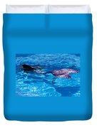 Swimming Mermaid Duvet Cover