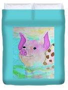 Swimming Piggy Duvet Cover
