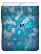 Swimming Through The Clouds Duvet Cover
