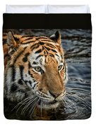 Swimming Tiger Duvet Cover