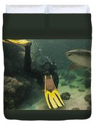 Swimming With The Sharks Duvet Cover