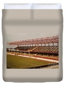Swindon - County Ground - Main Stand 2 - 1970s Duvet Cover