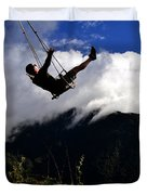 Swing At The End Of The World Duvet Cover