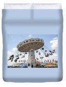 Swing Carousel At County Fair Duvet Cover