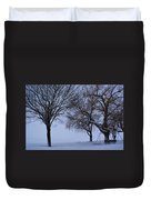 Swing In Winter Duvet Cover