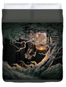 Swinging Through The Forest By Moonlight Duvet Cover