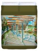 Swings At Smale Park Duvet Cover