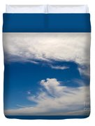 Swirl Of Clouds In A Blue Sky Duvet Cover