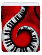 Swirling Piano Keys- Music In Motion Duvet Cover