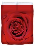 Swirling Red Silk Duvet Cover