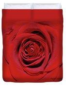 Swirling Red Silk Duvet Cover