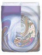 Swirling Rose Duvet Cover