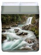 Swirling Waters - Tawhai Falls Duvet Cover