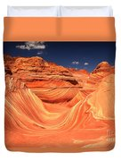 Swirls And Buttes At The Wave Duvet Cover