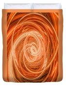 Swirls Of Orange Duvet Cover