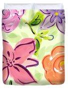 Swirly Flowers Duvet Cover