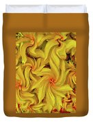 Swirly, Yellow Leaves Duvet Cover