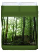 Swiss Forest Cabin Duvet Cover