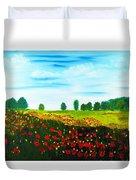 Swiss Poppies Duvet Cover