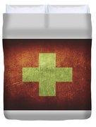 Switzerland Distressed Flag Dehner Duvet Cover