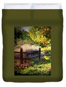 Sycamore Grove Fence 1 Duvet Cover