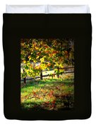 Sycamore Grove Fence 2 Duvet Cover
