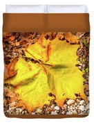 Sycamore Leaf  In Fall Duvet Cover