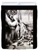 Sycamore Tree Overgrowing Ruins- Cambodia Duvet Cover