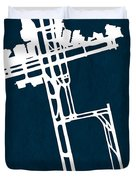 Syd Sydney Kingsford Smith Airport In Mascot Australia Runway Si Duvet Cover
