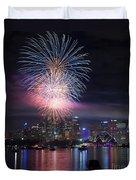 Sydney Fireworks Duvet Cover