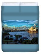 Sydney Harbor And Opera House Duvet Cover