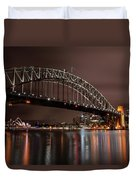 Sydney Harbor At Night Duvet Cover