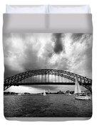 Sydney Harbor Bridge Black And White V2 Duvet Cover