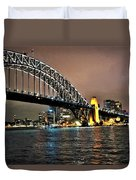 Sydney Harbor Bridge Night View Duvet Cover
