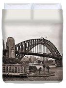Sydney Harbor Bridge Platinum Duvet Cover