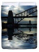 Sydney Harbour Bridge Reflection Duvet Cover