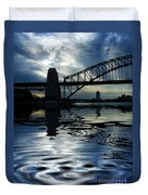 Sydney Harbour Bridge Reflection Duvet Cover by Avalon Fine Art Photography