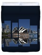 Sydney Harbour Collage Duvet Cover