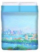 Sydney Harbour Impression Duvet Cover